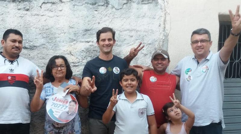 Júnior Araújo segue ganhando adesões na cidade de Sousa - Foto: reprodução