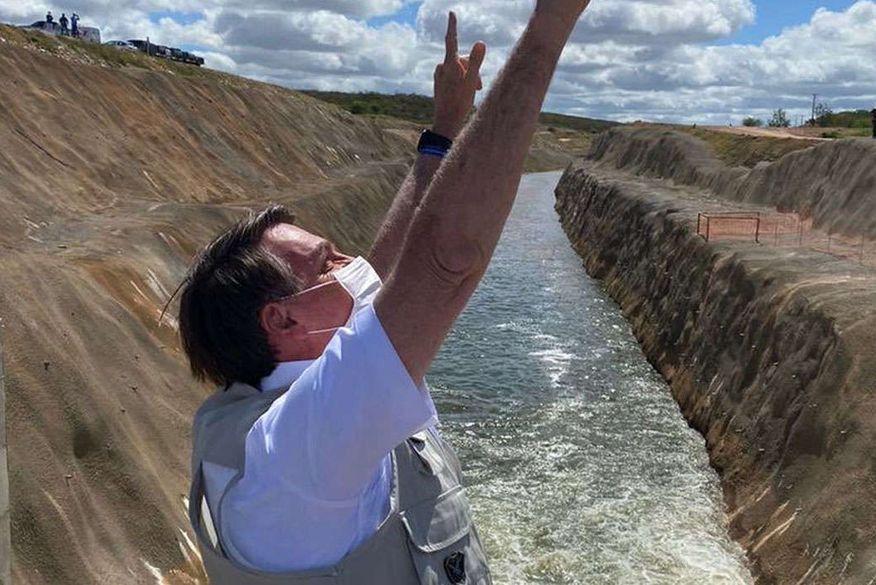 Bolsonaro entrega obra no Ceará que trará benefícios à Paraíba (Foto: Reprodução/Twitter)