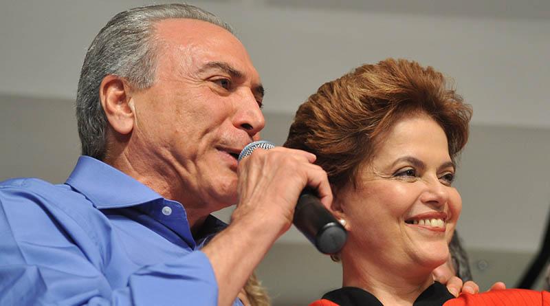 Dilma e Temer antes do Impeachment.