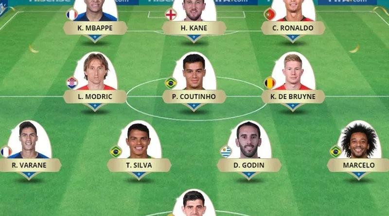 Brasil é maioria na seleção da Copa do Mundo eleita pela Fifa