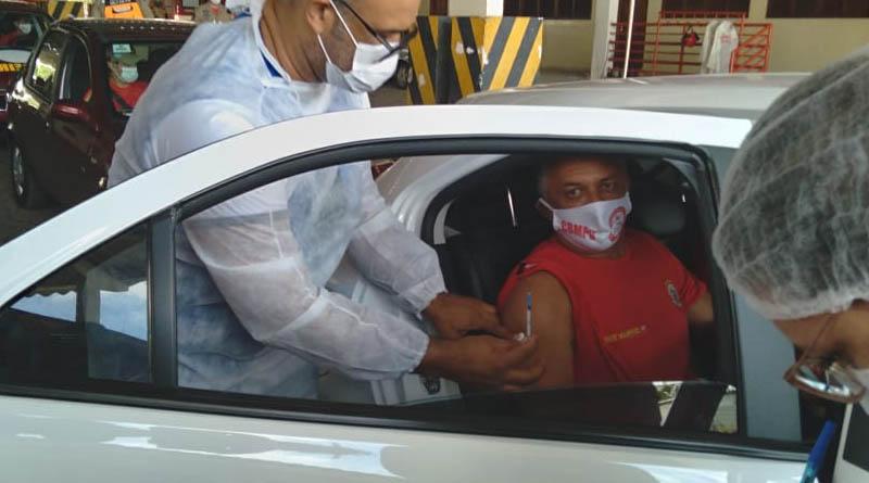 A partir da sede do comando regional dos bombeiros vacinação das forças de segurança é realizada em Campina Grande - CONFIRA